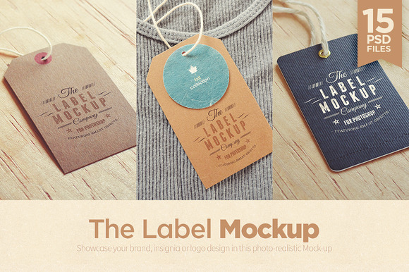 Tags Labels Mockup
