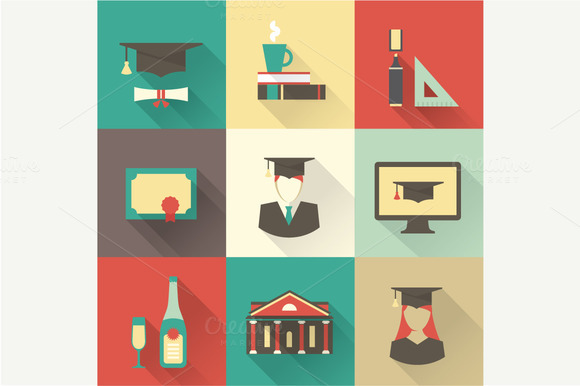Vector Graduation Icons