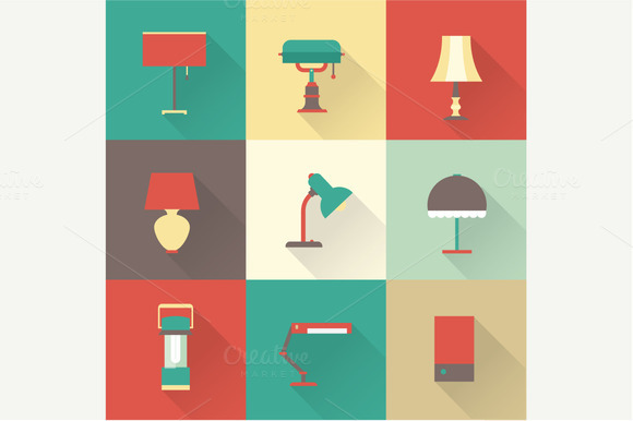 Vector Lamp Icons