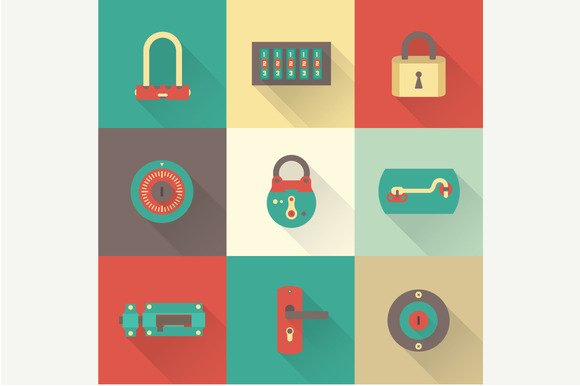Vector Locks Icons