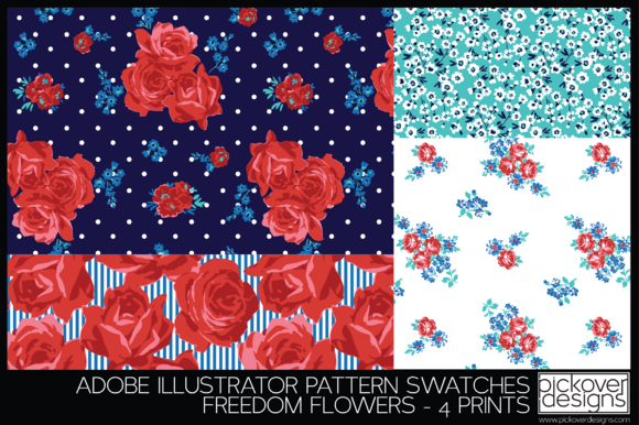 4 Freedom Flower Print Swatches