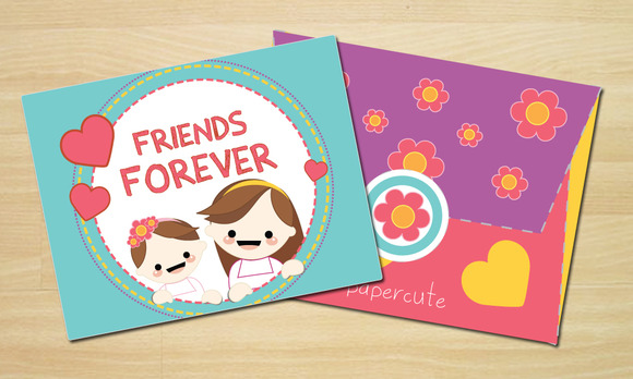 Envelope And Card Friends Forever