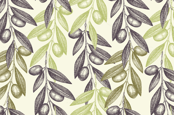 Vector Olive Pattern