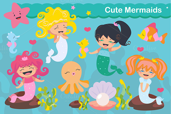 Cute Kawaii Mermaids