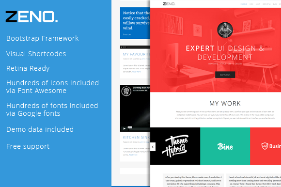 ZENO Single Page Responsive Theme