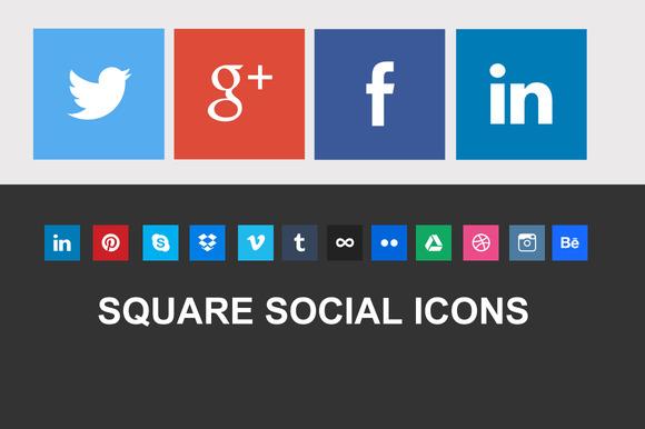 Nice Square Social Icons