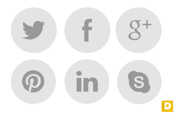 Nice Round Social Icons