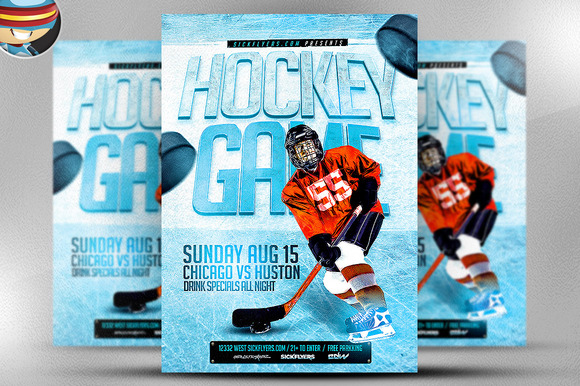 Ice Hockey Flyer Template