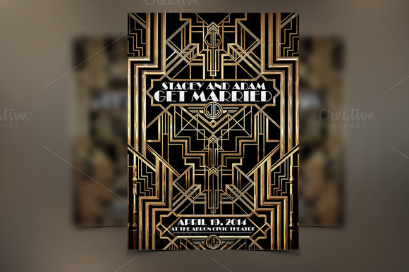 Great gatsby poster board template