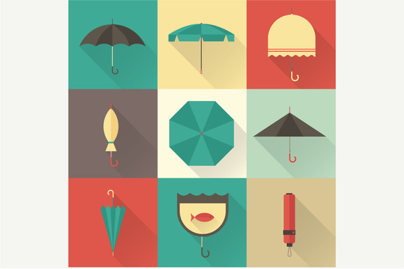 Vector Umbrella Icons