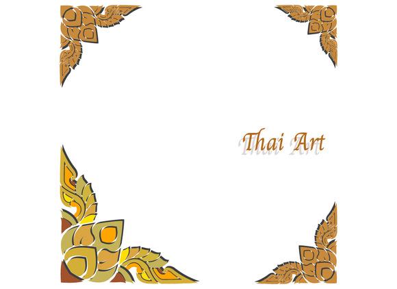 Vector Thai Art Frame