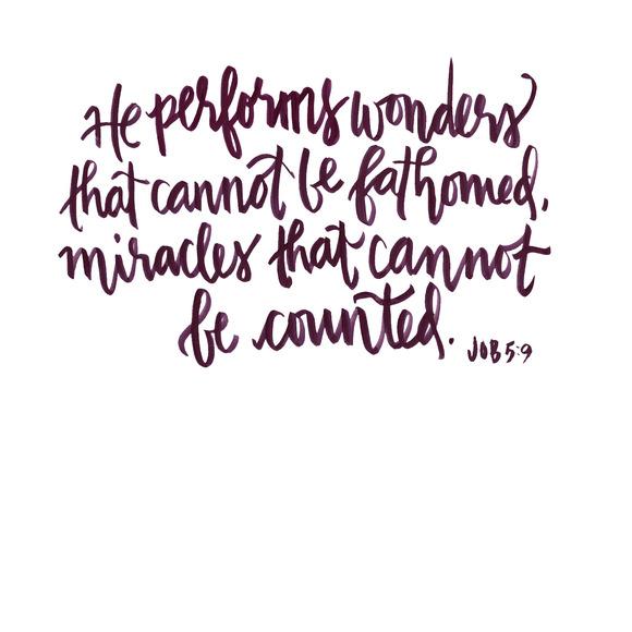 Hand Lettered Scripture Job 5 9