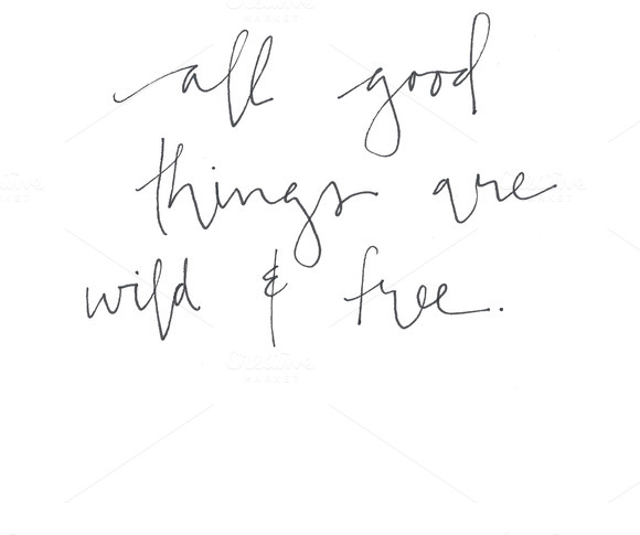 All Good Things Hand Lettered