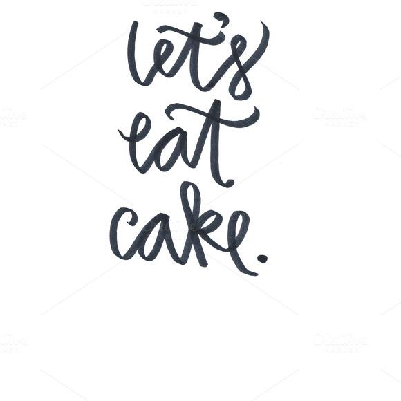 CAKE EATER Hand Lettered