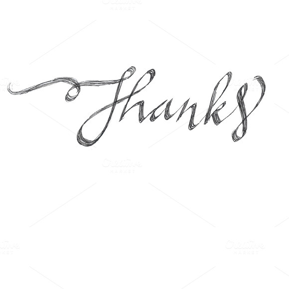 Thanks Hand Lettered