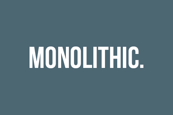 Monolithic Portfolio Template