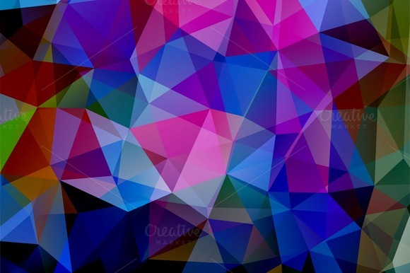 Four Triangle Backgrounds
