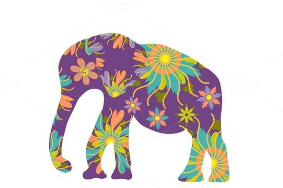 Four Elephant Silhouette