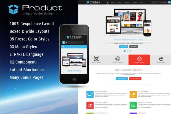 Product Responsive Joomla Template