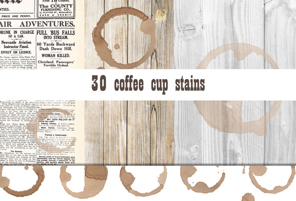 30 Coffee Cup Stains