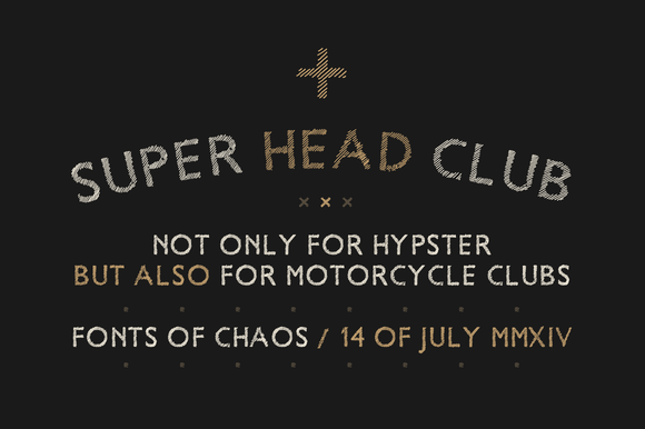 Super Head Club Hand Drawn Font