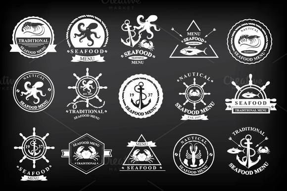 15 Icons Menu Seafood