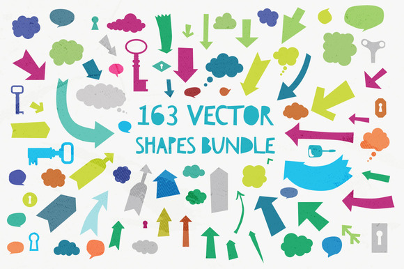 163 Vector Shapes Bundle