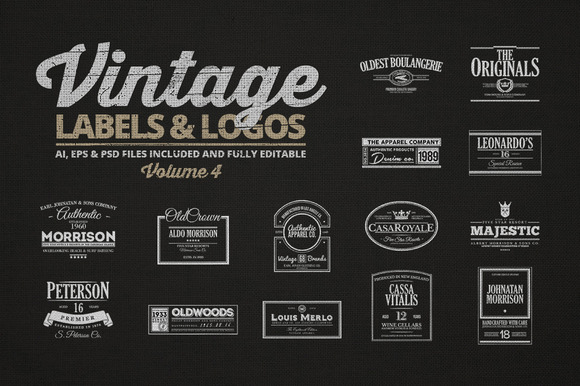 Vintage Labels Logos Vol.4