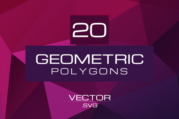 20 Geometric Polygons Vector Pack