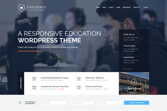 University Education WP Theme
