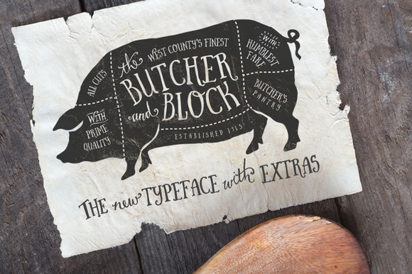 Butcher Block Typeface Extras