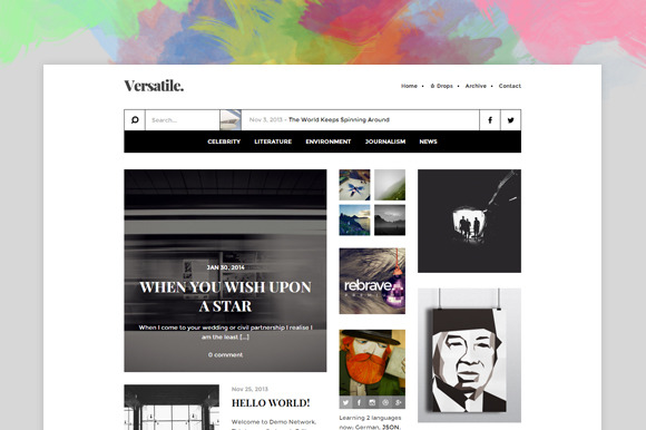 Versatile Content-focused Theme