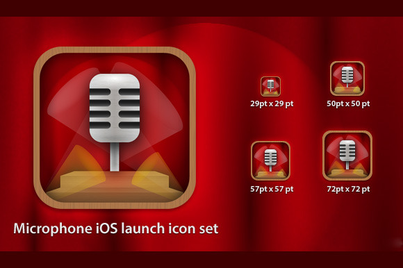 Microphone IOS Icon Set
