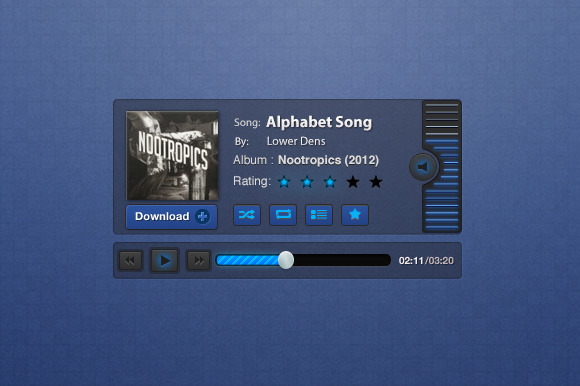 Blueprint Music Player Interface