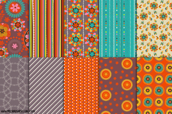 Summer Heat Pattern Papers
