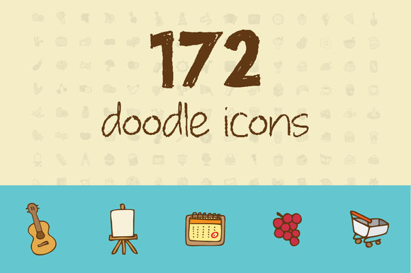 172 Doodle Icons