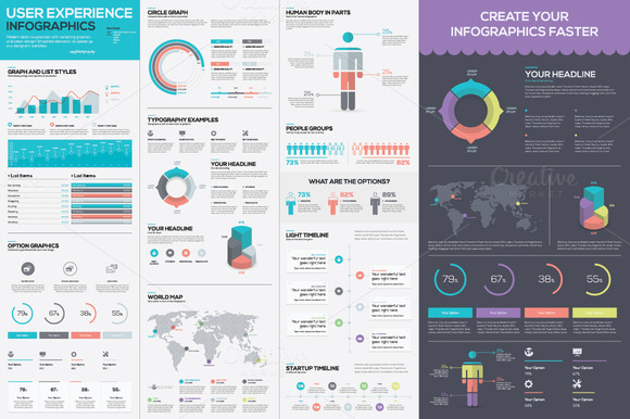 Infographic Vector Kit For Designers