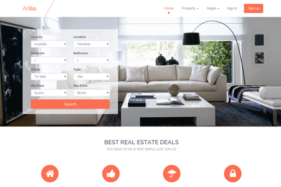 Arillo Responsive Real Estate