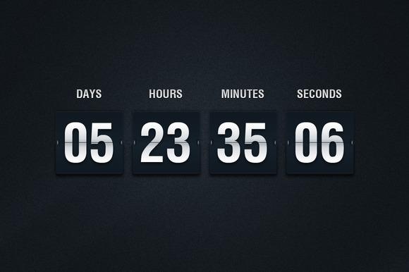 Flip Countdown PSD