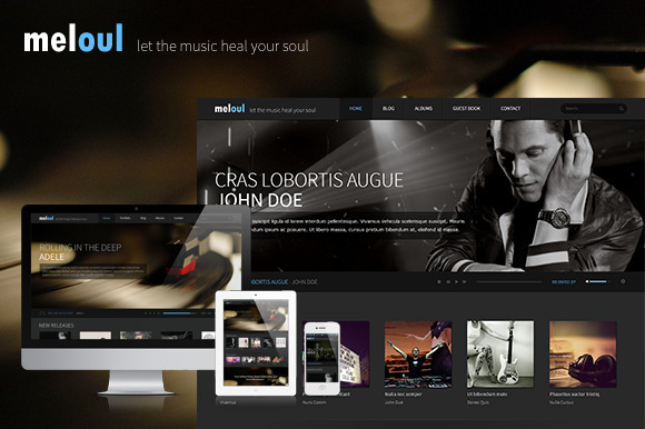 Meloul Music WordPress Theme