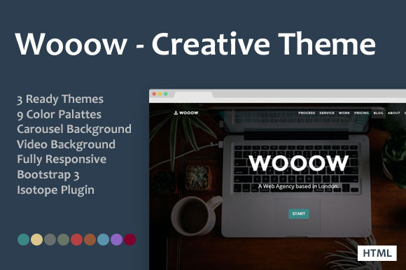Wooow Creative One Page HTML Theme