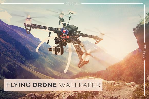 Flying Drone Wallpaper