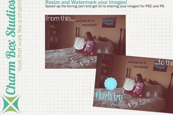 Resize Watermark Photo Action