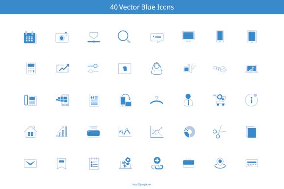Blue Marketing Icons