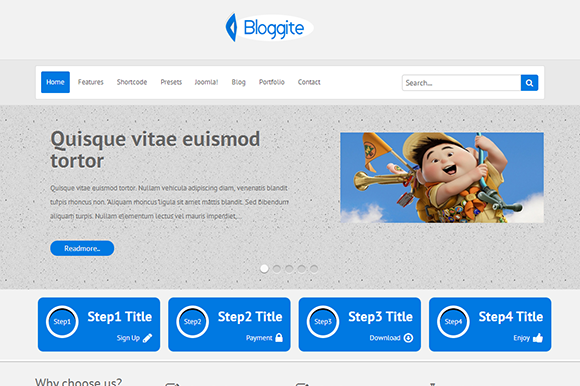 TM Bloggite-Business Joomla Template