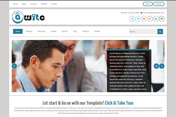 TM Awite-Bootstrap Joomla3 Template