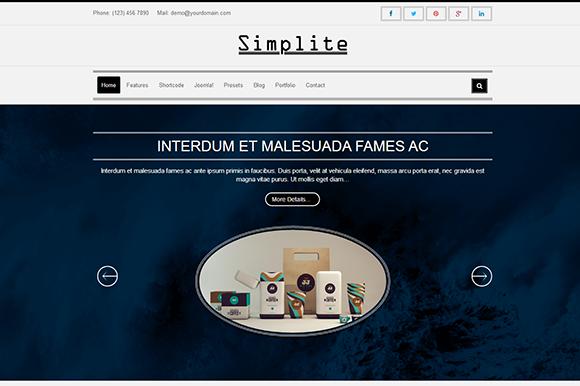 Simplite-Responsive Joomla Template