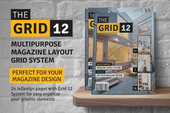 Grid 12 Multipurpose Magazine Layout