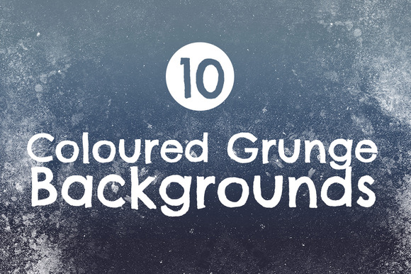 10 Coloured Grunge Backgrounds