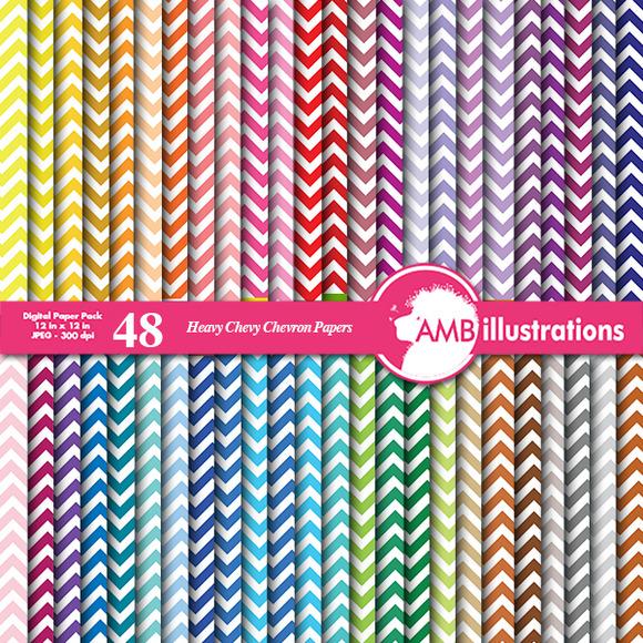 48 Chevron Rainbow Papers AMB-530